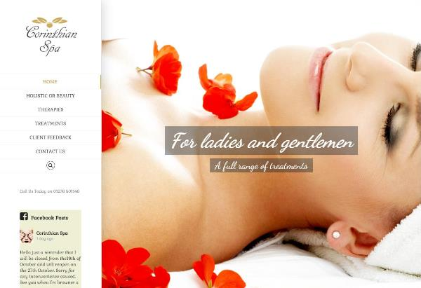 Corinthian Spa website by EJC Websites