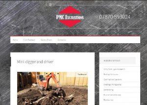 PMC Excavations website by EJCWebsites